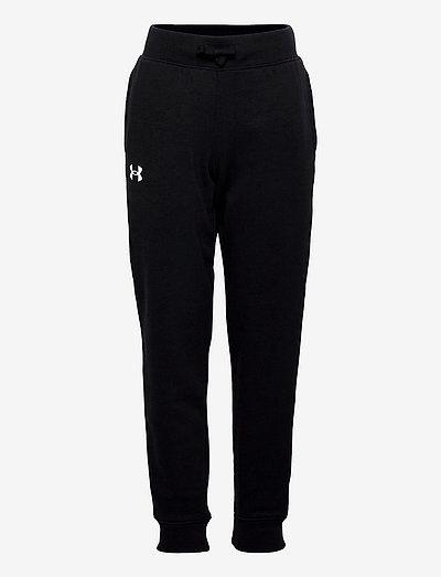 UA RIVAL COTTON PANTS - sports bottoms - black