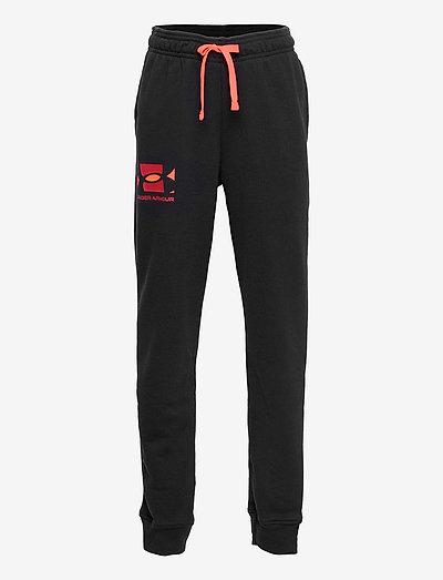 UA RIVAL TERRY PANTS - sports bottoms - black