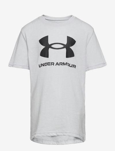 UA Sportstyle Logo SS - short-sleeved t-shirts - halo gray light heather