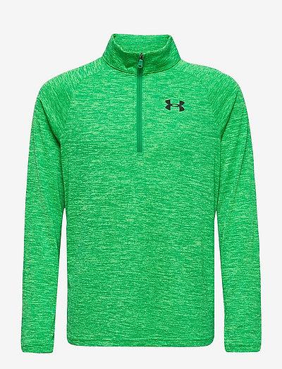 UA Tech 2.0 1/2 Zip - sweatshirts - stadium green