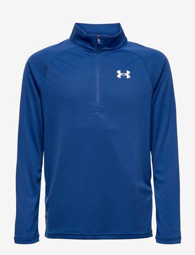 UA Tech 2.0 1/2 Zip - sweatshirts - tech blue