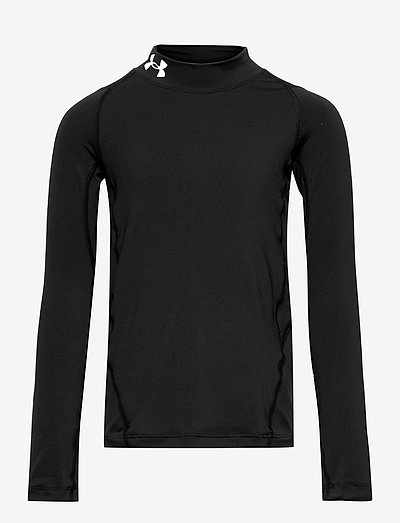 UA HG Armour Mock LS - long-sleeved t-shirts - black