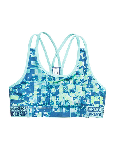HEATGEAR ARMOUR NOVELTY BRA - TROPICAL TIDE
