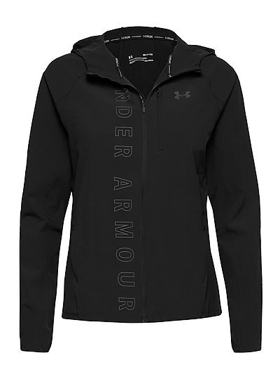 W Ua Qualifier Outrun The Storm Jacket Outerwear Sport Jackets Schwarz UNDER ARMOUR