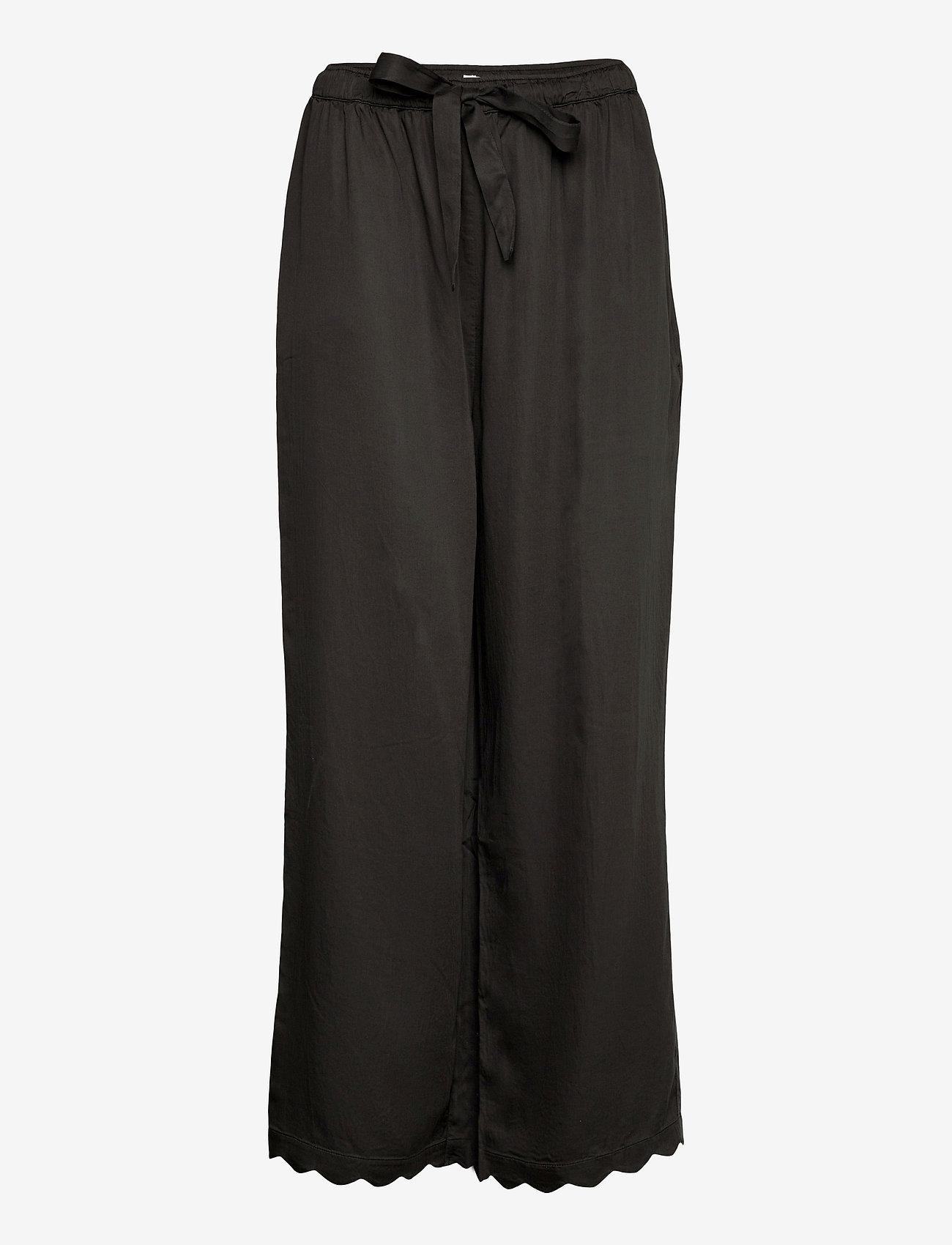 Underprotection - Jane pants - bukser med brede ben - black - 0