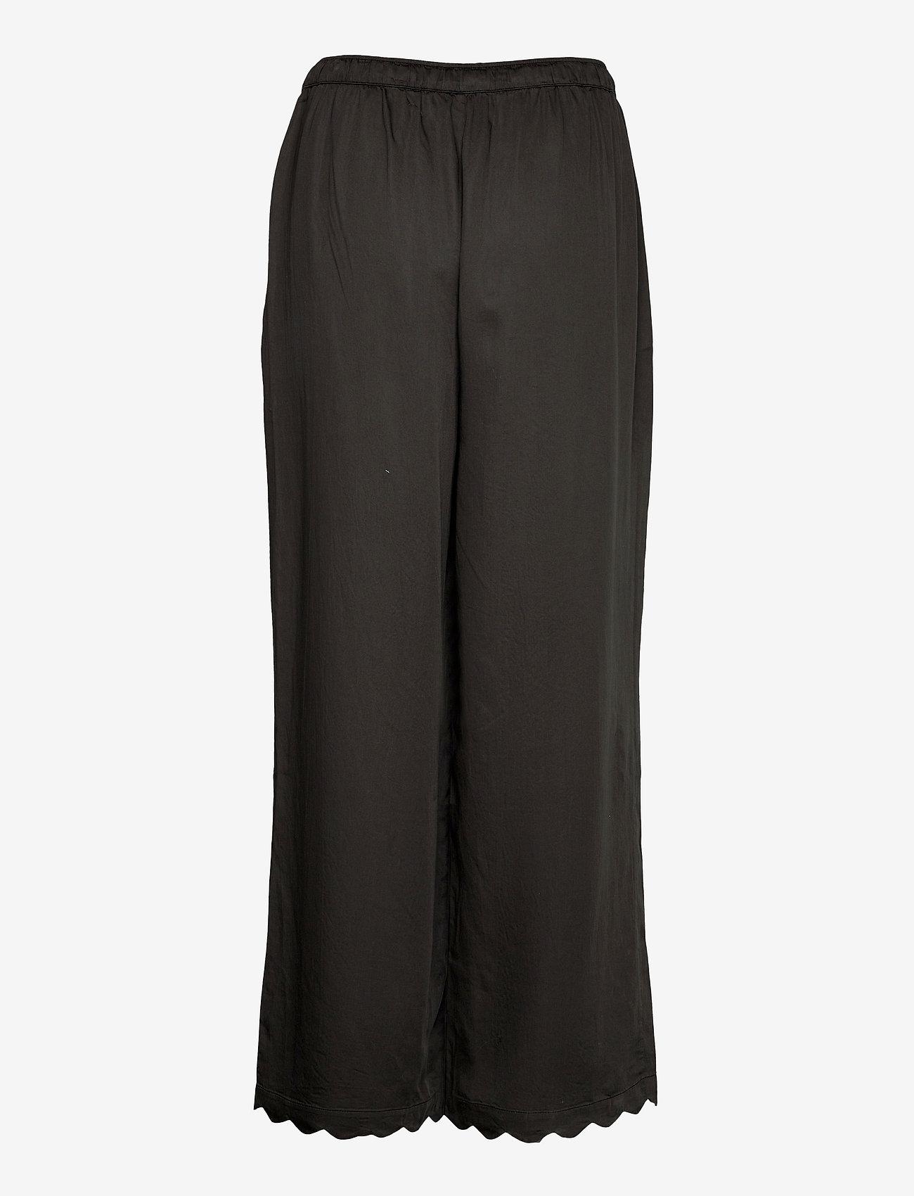 Underprotection - Jane pants - bukser med brede ben - black - 1