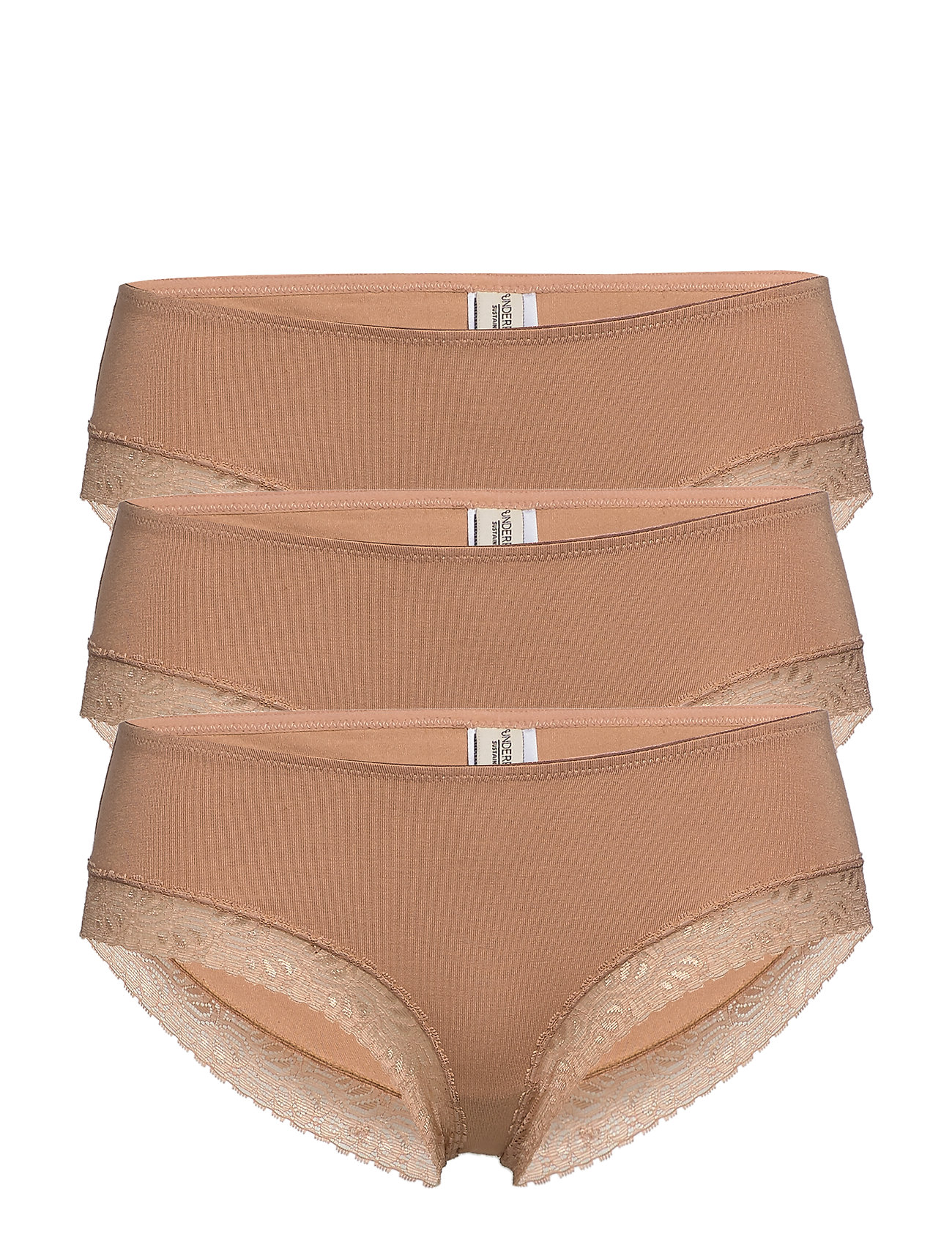 Underprotection Bea hipsters 3 pack - TAN