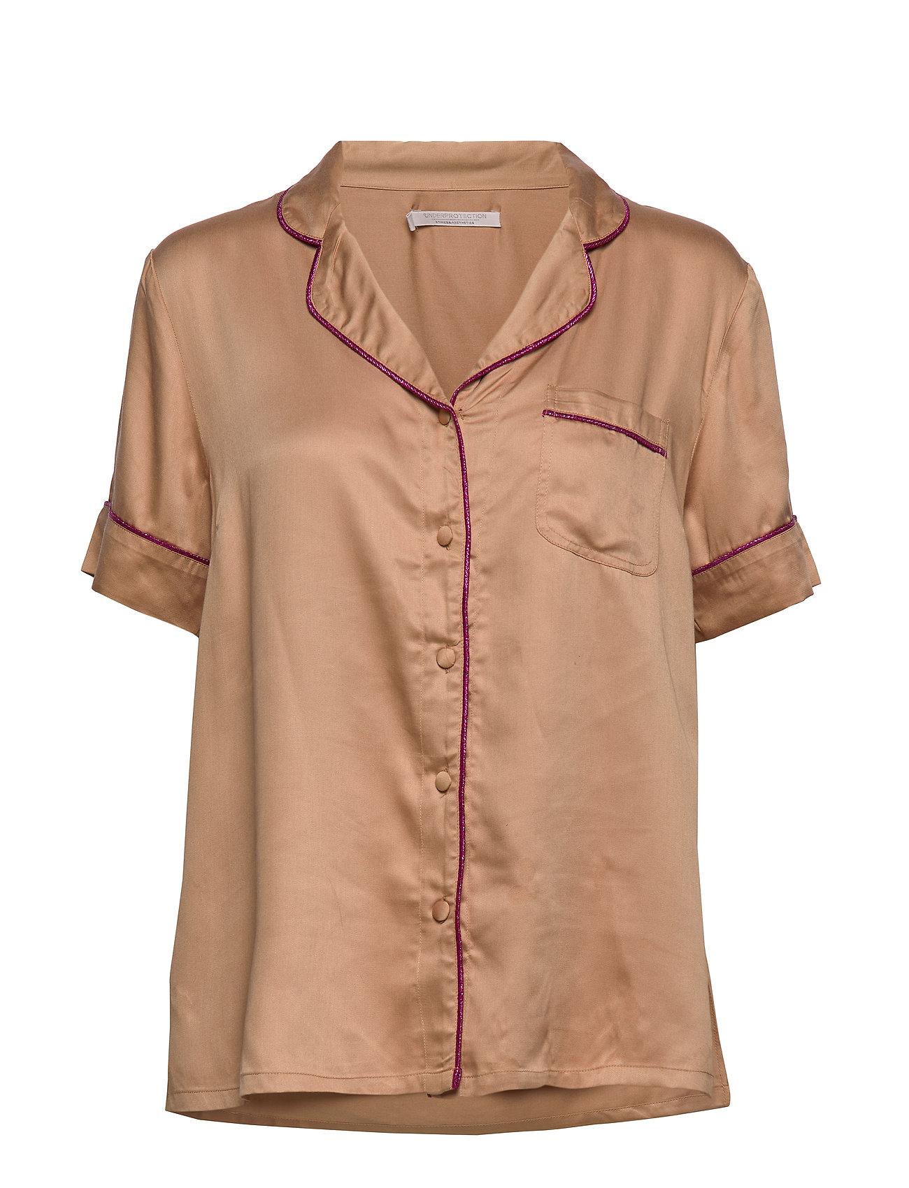 Underprotection lisa short shirt - WARM BEIGE