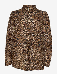 Underprotection - Leonora shirt - långärmade blusar - brown - 0