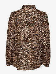 Underprotection - Leonora shirt - långärmade blusar - brown - 1