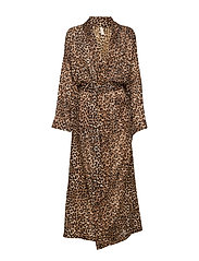 Leonora robe - BROWN