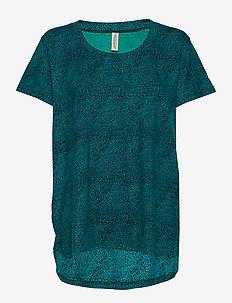 KARMA TOP GREEN - overdele - green