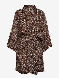 Leonora kimono - bathrobes - brown