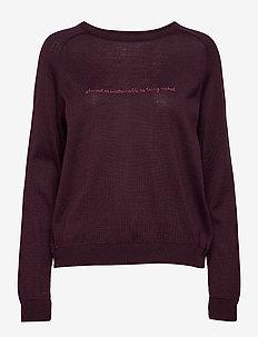 kimmie sweater - BURGUNDY