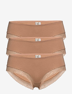 Bea hipsters 3 pack - hipster & hotpants - tan