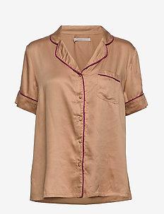 lisa short shirt - WARM BEIGE