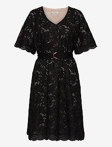 Zoe dress - midiklänningar - black