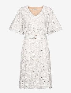 Zoe dress - midiklänningar - white
