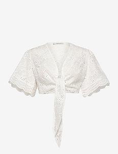 Zoe top - któtkie bluzki - white