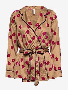 Lola shirt - tops - camel
