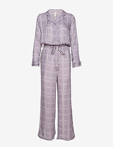 Terry jumpsuit - pyjamas - purple