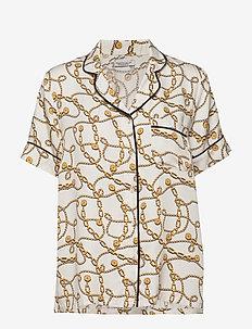 charlize short shirt - Överdelar - white