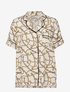charlize short shirt - WHITE