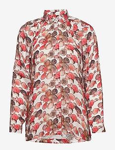 zenia shirt - långärmade skjortor - creme