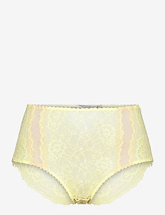 Amy hipsters - culottes taille basse - yellow
