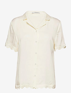 Jane short shirt - tops - creme