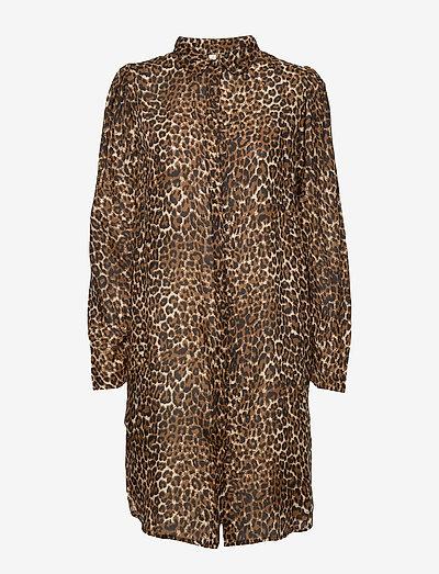 Leonora long shirt - chemises de nuit - brown