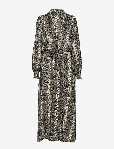 melina robe - summer dresses - grey