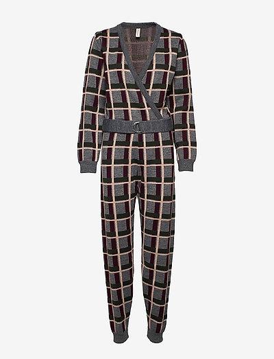 janet jumpsuit - pyjamas - grey