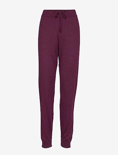 kimmie pants - clothing - burgundy