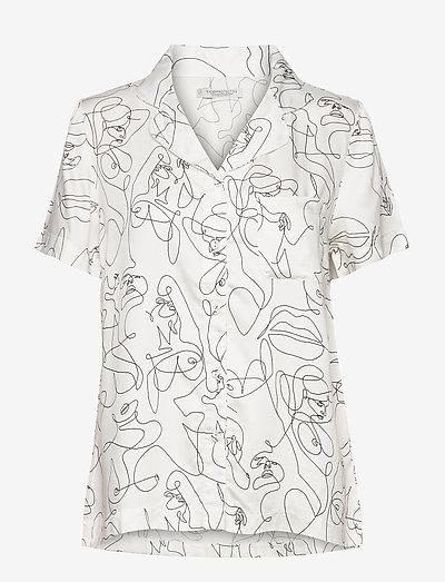Fie short shirt - hauts - white