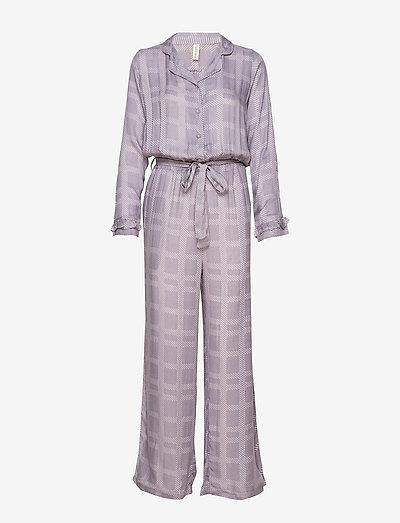 Terry jumpsuit - pyjamas - purple
