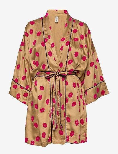 Lola kimono - lingerie - camel