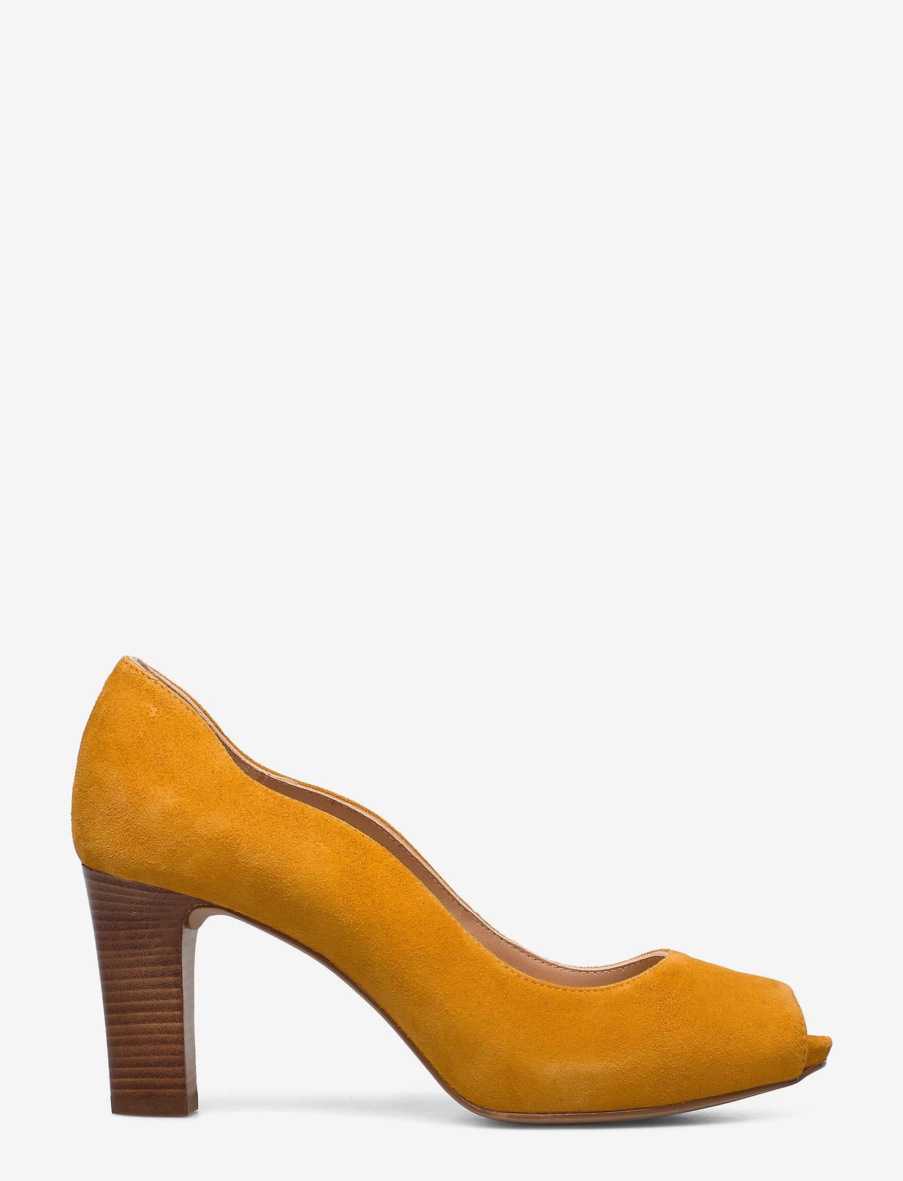 UNISA - NALO_KS - szpilki peep toe - mustard - 1