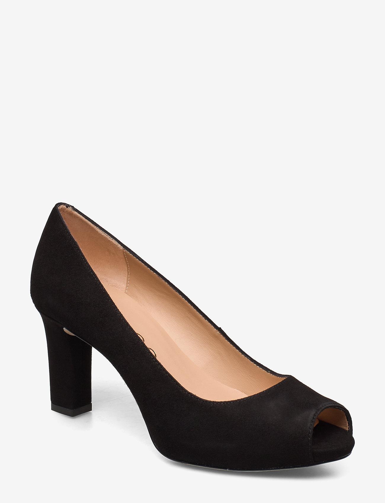 UNISA - NAZO_20_KS - szpilki peep toe - black - 0