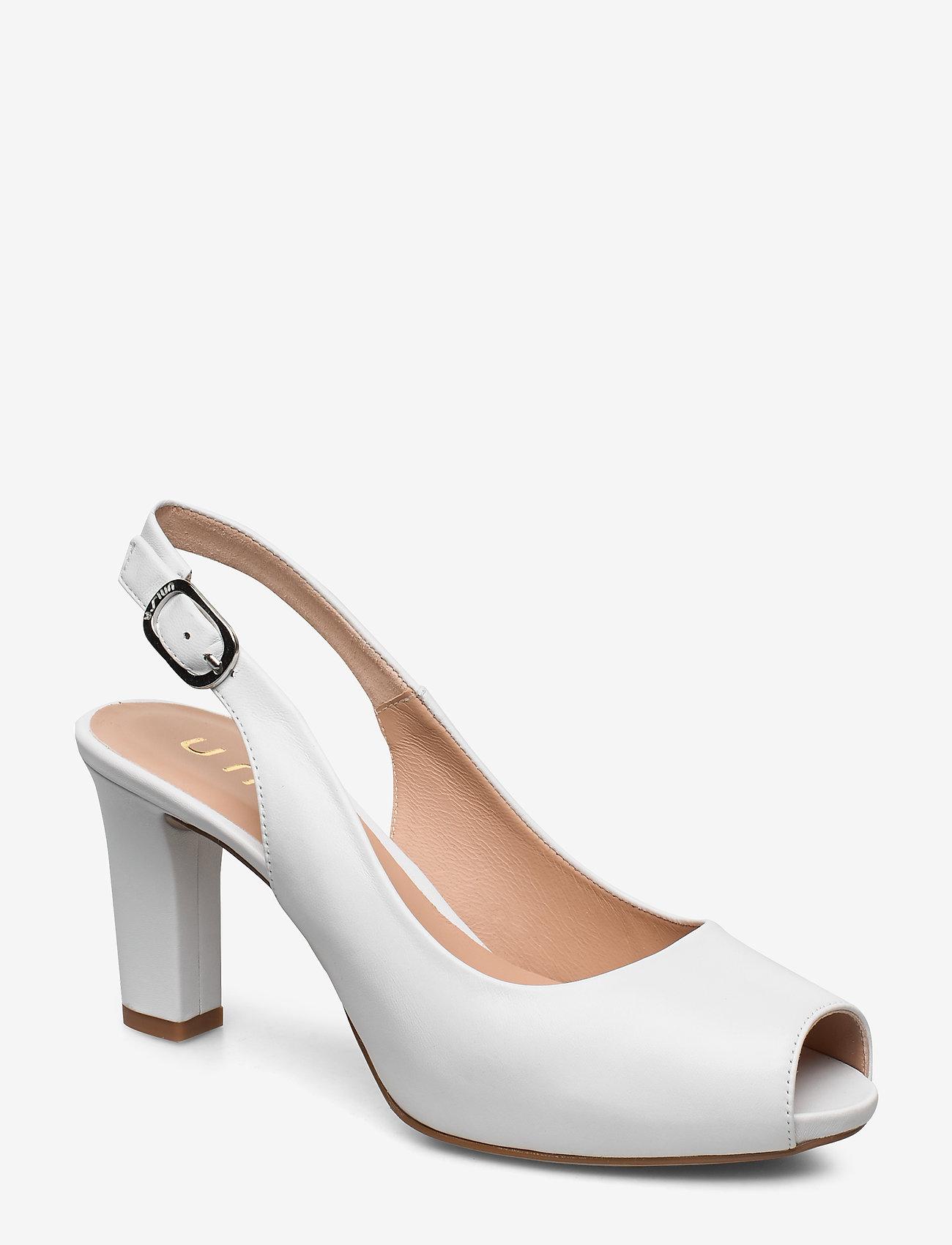 UNISA - NICKA_CLASSIC_20_NA - szpilki peep toe - white - 0