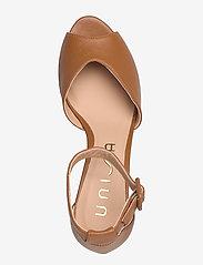 UNISA - LOFT_NA - szpilki peep toe - bisquit - 3