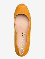 UNISA - NALO_KS - szpilki peep toe - mustard - 3