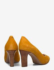 UNISA - NALO_KS - szpilki peep toe - mustard - 4