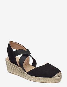 CELE_19_KS - heeled espadrilles - black