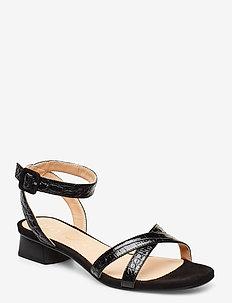 DIVINA_CRW_KS - heeled sandals - black