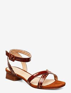 DIVINA_CRW_KS - heeled sandals - saddle