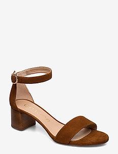 GELETE_KS - heeled sandals - cuir