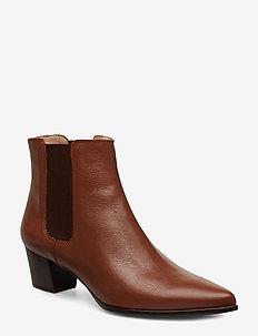 JISTE_F19_NA - ankle boots with heel - toast