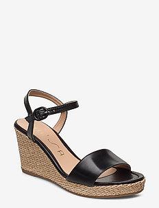 LUPA_NA - heeled espadrilles - black