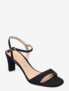 MECHI_21_KS - højhælede sandaler - black